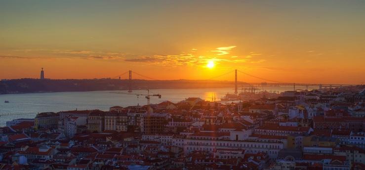 Fotografia Lisboa  Prelúdio para o pôr do sol